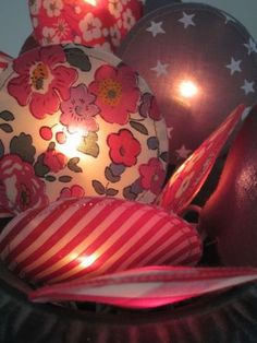fabric garland with lights in