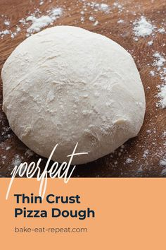 This thin crust pizza dough uses a cold rise overnight in the fridge for perfectly thin and crispy pizza. It's super easy to make and is so tasty! #pizzadough #thincrustpizza #pizza Thin Crust Pizza, Cauliflower Crust Pizza, Pizza Recipes, Bread Recipes, Grilling Recipes, Classic Pizza Dough Recipe, Easy Homemade Pizza, Homemade Breads, Vegan Pizza