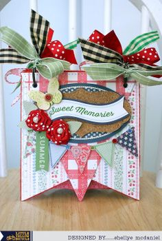 Little Yellow Bicycle: May Arts, Xyron & LYB Blog Hop - Day 2...Banner Chipboard Mini Album by Shellye McDaniel