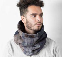 Mens écharpe d'hiver laine écharpe hommes infini