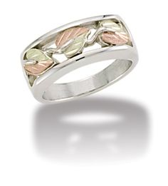 Black Hills Gold wedding band ring mens whl//half sz 9 10 11 12 sterling silver