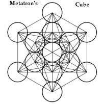 Binnen de kubus van Metatron bevinden zich alle vijf platonische lichamen. Deze komen voort uit het eerste informatiesysteem van de levensvrucht.