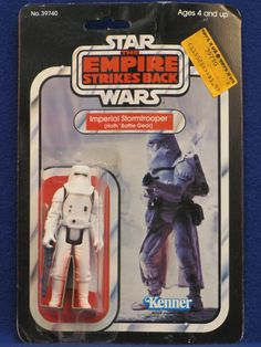 "An Imperial Stormtrooper with Hoth Battle Gear, from Kenner's 1980 ""Star Wars: The Empire Strikes Back"" toy line"