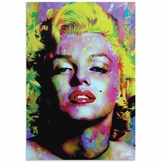 Marilyn Monroe Wall Art, Marilyn Monroe Pop Art, Pop Art Images, Painting Prints, Art Prints, Arte Pop, Colorful Paintings, Cultura Pop, American Artists