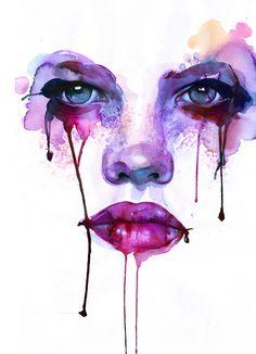 Marion Bolognesi Watercolour, expressive, illustrative, surreal, inspirational, colourful, vibrant, creative