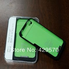 Portable 2in1 Charge External Backup Power Pack 1900mAh Battery Protection Case for iPhone 4 4S 20 pcs $175.00
