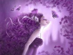 one-and-only-one Purple Love, Purple Art, All Things Purple, Shades Of Purple, Pink Purple, Purple Stuff, Beautiful Fantasy Art, Beautiful Images, Dream Fantasy