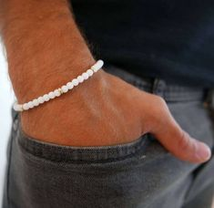 Acero inoxidable pulsera caballero bala 8mm Ball joyas brazalete para hombres longitud 21 cm.