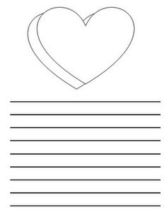 This is heart writing paper with college ruled lines available FREE ...