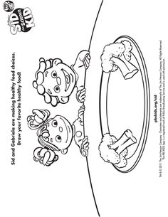 Sid and Friends Sid the Science Kid Coloring Pages for Kids