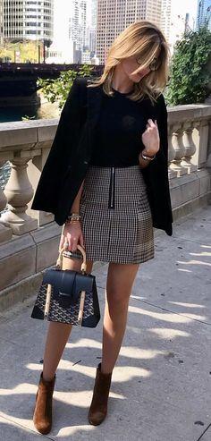 #fall #outfits women's black coat