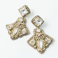 Pin on おしゃれ Beaded Earrings, Earrings Handmade, Diamond Earrings, Handmade Jewelry, Braided Hairstyles For Wedding, Ribbon Embroidery, Fashion Earrings, Diy Jewelry, Jewerly