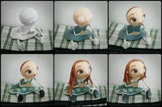 Creation of a paper mache doll by Chloe Remiat look so simple but is a work for an artist