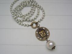 Lange Kette Perlenkette Buddha  von beadclub66 auf DaWanda.com