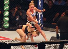 Rousey's unbeaten record was sensationally ended by Holm at UFC 193 and both the new champ and president Dana White agree a rematch is likely. Ronda Rousey a. New Champ, Holly Holm, Dana White, Ronda Rousey, The Smoke, Make Sense, Kickboxing, Ufc 193, Champion