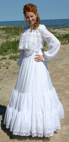 I can imagine wearing this and walking along the red sand beach in Avonlea