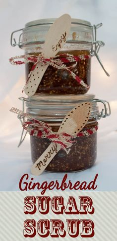 Gingerbread Sugar Scrub.  A great Christmas gift idea!