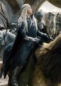 Sunny Daze — Thranduil on elkback. Tolkien Hobbit, O Hobbit, Legolas And Thranduil, Aragorn, Lee Pace Thranduil, Lotr Elves, Elf King, Black Panther Marvel, Funny Tattoos