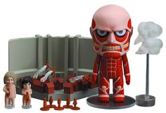Amazon.com: Good Smile Attack on Titan: Colossal Titan Nendoroid and Playset Action Figure Busts: Toys & Games