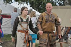 Please read this site about belts: http://www.medieval-baltic.us/vikbuckle.html  Please read this site about apron dress construction and decoration: http://urd.priv.no/viking/smokkr.html