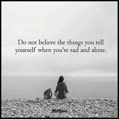 Lonely sad depression quote