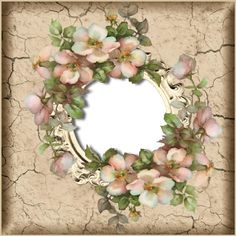 Lugar Encantado da Neli Boarders And Frames, Printable Frames, Diy And Crafts, Paper Crafts, Vintage Ornaments, Frame It, Decoupage, Floral Wreath, Card Making