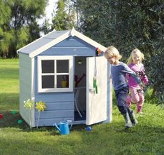 This cute Playhut Wooden Playhouse will surely be the centre of attention for your children & their friends. The timber used means the playhut can be painted in loads of creative colours. #Playhouse