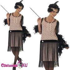 Ladies Flapper Costume Ganster Charleston Gatsby Outfit Fancy Dress Up Gatsby Dress Up, Gatsby Outfit, Flapper Outfit, 1920s Flapper Costume, Ladies Fancy Dress, Fancy Dress Up, Gangster Costumes, Costumes For Sale, Playing Dress Up