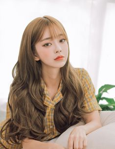 Cute Korean Girl, Asian Girl, Ulzzang Hair, Uzzlang Girl, Pin On, Hair Reference, Asian Makeup, Homecoming Hairstyles, Cute Hairstyles