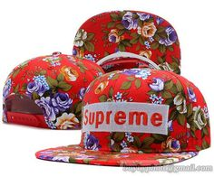 Supreme Snapback Flower Red only US$8.90,please follow me to pick up couopons.