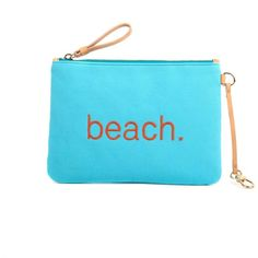 Jaunt - Sunrise Clutch Beach ($88) ❤ liked on Polyvore featuring bags, handbags, clutches, beach tote bags, blue handbags, summer purses, beach handbags and summer beach bags