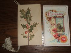 2 Decorative Vintage Calendars 1904 Clement Tournier and 1912 Smile Poem