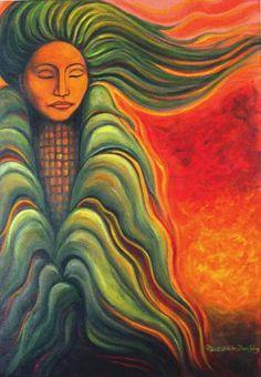 Corn Dawn Maiden by Marti Fenton (White Deer Song)