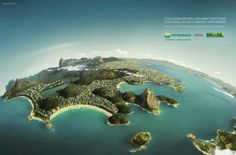 Publicidade da Petrobrás apaga as favelas do Rio de Janeiro