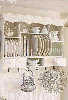 Shabby Chic painted plate rack shelf , www.melodymaison.co.uk sell something similar: