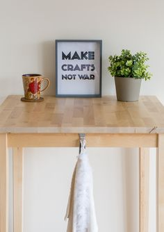 Make Crafts Not War Printable submitted to InspirationDIY.com
