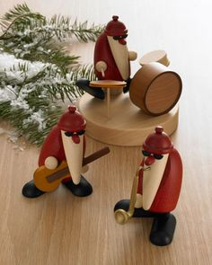 Santa Band Christmas Figures, Set