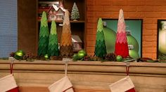 The Chew - Clinton's Craft Corner - Ombre Christmas Trees  -  Doesn't have to be put away after Christmas  - Pink one great for Valentine's day