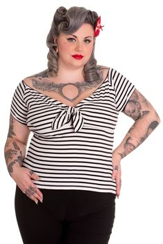 Plus Size Dollie Top in Black