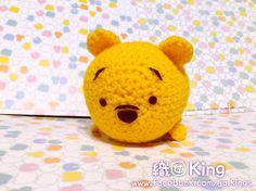 Disney Tsum Tsum Winnie the Pooh #tsum #handmade #JQKings #織囡Kings #crochet #amigurumi #handcraft #鈎織 #鉤織 #TSUMTSUM #winniethepooh