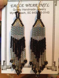 Rainbow Bugle Seed Bead Earrings by KrystalHallman on Etsy, $8.14