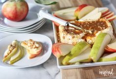 With just four ingredients this Caramel Apple Cream Cheese Spread comes together in under five minute for the perfect fall appetizer recipe.