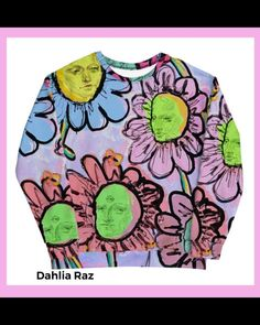 Buy this sweatshirt now on dahliaraz.com Flower Centerpieces, Flower Arrangements, Unisex Fashion, Fashion Art, Casual Outfits, Cute Outfits, Fleece Fabric, Dahlia, Watercolor Painting