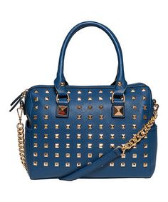 Another great find on #zulily! Elise Hope Navy Pyramid Stud Duffel by Elise Hope #zulilyfinds