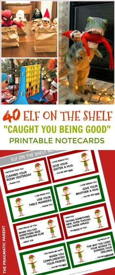 Elf on the shelf Printable Notecards. Elf on the Shelf Notes for Kids. Elf on the shelf Printable Notecards with a Positive Message #elfontheshelf #easyelfontheshelfideas #quickelfontheshelfideas