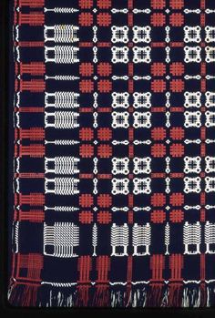 coverlet | cotton + wool | U.S.A. | c. 1825-'30
