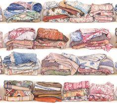 """Pierre Frey, Collection Les Dessins """"L'armoire de Marguerite"""""""