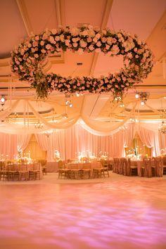 Green and floral ballroom wedding reception ballroom wedding incredible dance floor floral design by amaryllis inc florial and event design junglespirit Gallery
