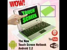 Slim and light weight BLACK (Solid Black Inside and Outside) mini laptop Android 2.2, 4GB st... $99.99