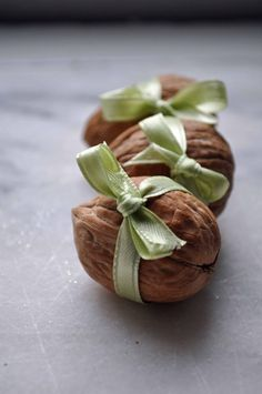 "wow soooo adorable present in a walnut. <3 by ""Tutorial Tuesday: Fairy walnut presents - Mollie Makes"""